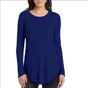 Chaser Royal Blue Waffle Knit Thermal Top M